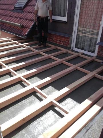 Terrasse- Balken als Unterkonstruktion