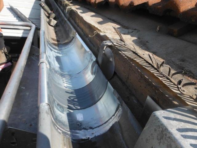 Dachklempnerarbeiten - Dachrinne mit Dehnfugen
