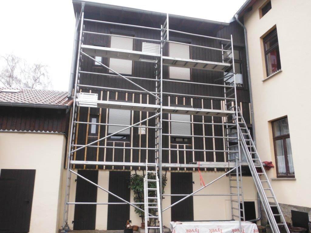 Fassadensanierung mit Schiefer